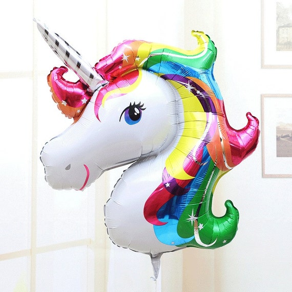"33"" unicorn balloon, birthday decoration, photo prop, first birthday, unicorn decoration, Huge balloon, Rainbow balloon 36"""