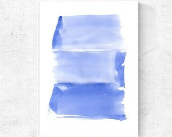 Abstract blue watercolor digital download, 24x36 print, large wall art printable, art print, blue abstract poster downloadable, 24x36 poster