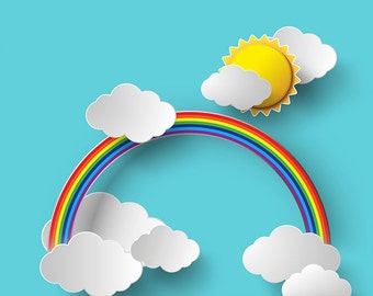 Sunshine and Rainbows Photo Backdrop (KID-VS-059)