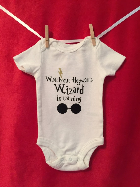 "Harry Potter inspired onesie ""Watch out Hogwarts"", Soft, Prewashed Cotton"