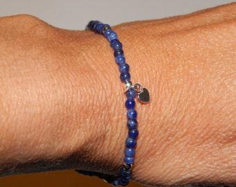 brasilian sodalite bracelet and silver