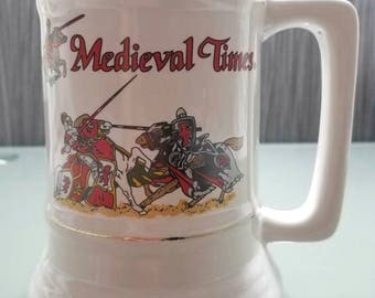 Vintage Medieval Times Large 32 oz Mug/Tankard/Stein
