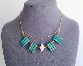 Aqua Bead Necklace