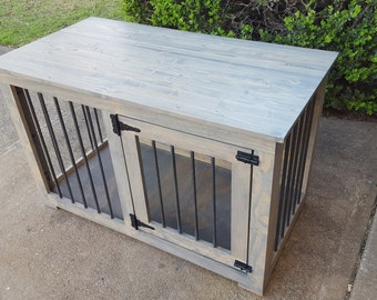 Items similar to Custom Build Dog Crate Furniture End