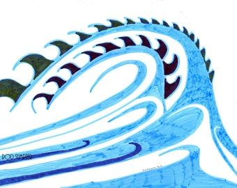 wave,drawing, art,rod sumpter