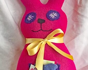 Jordan - Stuffed Rabbit - LUVbuddy - Animal- Tooth Fairy Pocket
