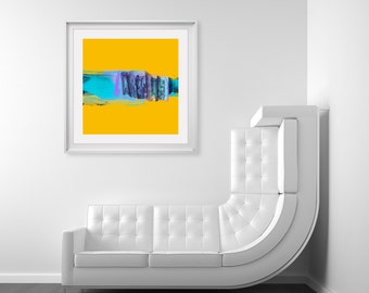 Yellow Abstract Print by Michael Hunter Artist - Modern Decor, Abstract Art Print, Large Size Wall Art, Digital Prints