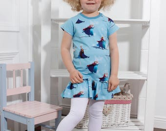 Frozen girls ruffle dress from 3month to 8 yrs