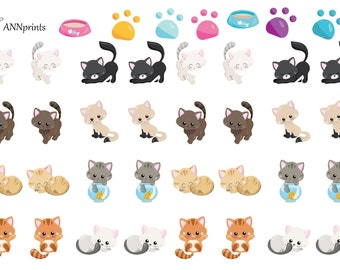 cute cats planner stickers