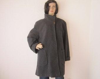 Vintage jacket wool jacket layered look wool Barisal oversize L/XL