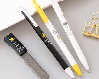 Cute Mechanical Pencil Set with Pencil Refills, Refillable Pencils, Reusable Pencils, School Pencils, Cute School Supplies, Planner Pencils