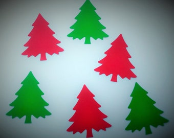 50 Christmas Trees, Christmas, Winter Wedding Decor, Scrapbooking, Card Making, Cupcake Toppers, Crafts, Party Confetti, Gift Tags