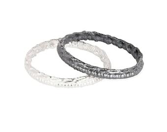 Silver Fine Crochet Bands
