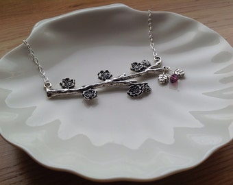 STERLING SILVER Cherry blossom.