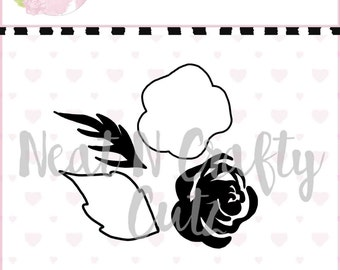 Layered Rose Cut File . For scrapbooking and paper crafting