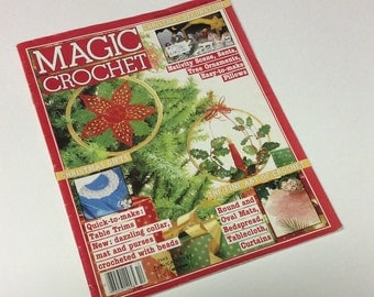 Magic Crochet - Vintage Crochet Patterns - Christmas Crochet Patterns - Crochet Bedspread - Crochet Patterns - 1984 Crochet