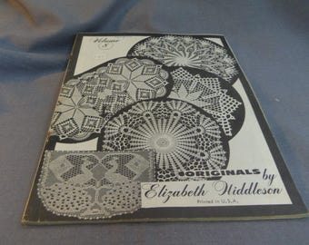 Elizabeth Hiddleson Original Crochet Designs, Volume 8, Thread Crochet, Home Decor, Doilies