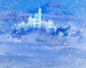 Frozen White Palace Digital Background
