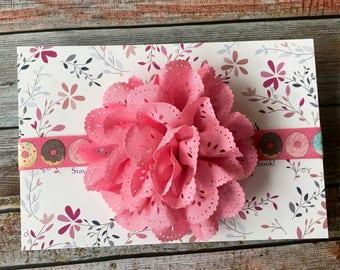 Pink Headband/Pink Baby Headband/Light Pink Headbands/Baby Headbands/Newborn Headband/Infant Headband/Baby Headband/Flower Headband/Donut