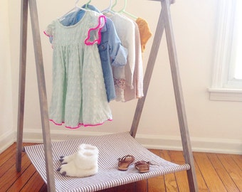Child's Clothing Rack, Clothing Display, Dress Up Rack, Toddler Dress Up, Capsule Wardrobe, Modern Clothing Rack