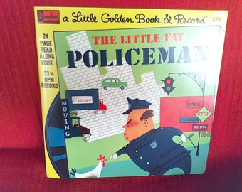 Little Golden Book and Record, The little Fat Policeman, Disney Land Vista Records, made in the USA