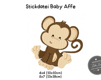 Embroidery design embroidery file baby monkey monkey 4 x 4 5 x 7
