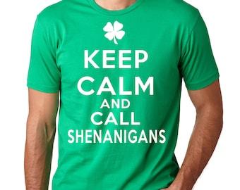 Shenanigans T-Shirt Irish Pub Party Shamrock Clover Leprechaun Tee Shirt