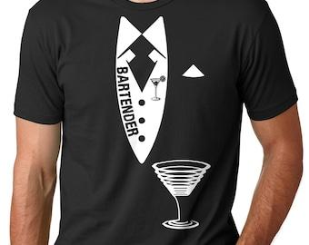 Bartender T-shirt Tee Shirt For Barman Barkeeper Gift Party Gift Funny T-shirt For Bartender