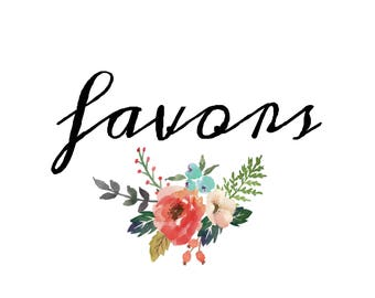 Favors Printable - Instant Download