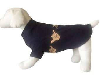 Small, Graphic Dog Shirt, Hang Loose