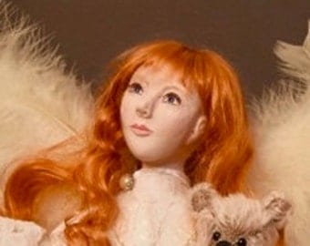 The Children's Angel, 20 inch OOAK sculpted Polymer Clay Art Doll