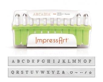 1 set letter stamp ImpressArt 3 mm Arcadia uppercase uppercase