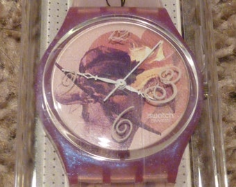 NIB Be My Valentine Swatch Watch 1994