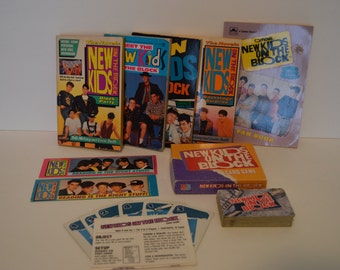 Lot of New Kids On The Block, Five Books, Two Book Markers, and A Card Game