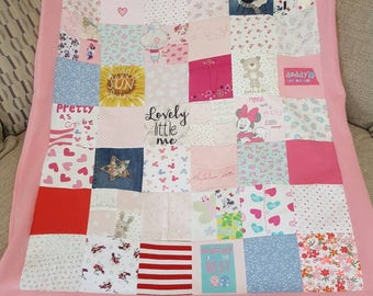 Memory blanket made from baby clothes - size medium