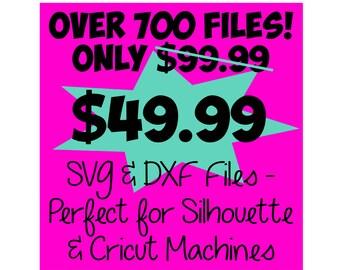 SVG Bundle * Whole Shop Bundle! Over 700 Files! - DXF & SVG Files - Silhouette Cameo, Cricut