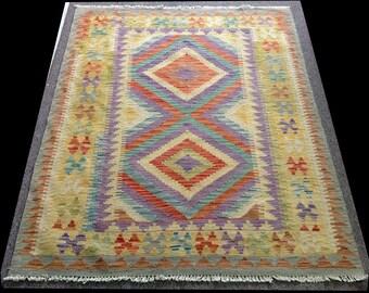 Hand woven, wool afghan chobi  kilim