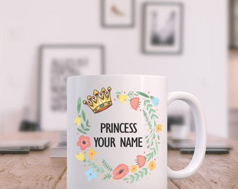Custom Princess You Name - Coffee Mug