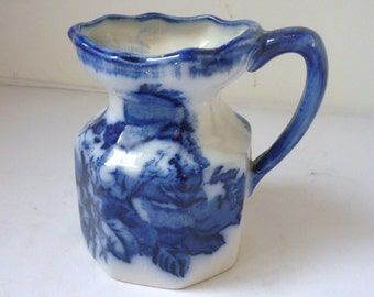 Flow blue Jug by Blakeney Pottery LTD Ironstone Staffordshire Reproduction 1968