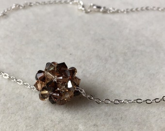Swarovski Crystal Bead Ball Necklace