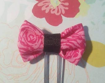 Pink rose bow paper clip