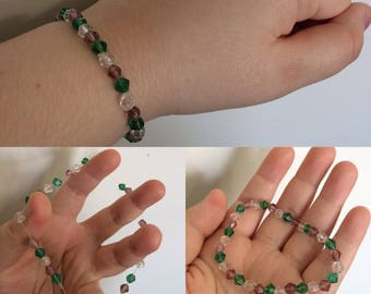 Glass Diamond Beaded Bracelet