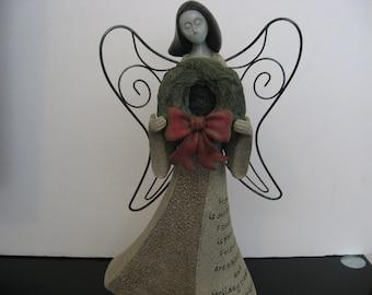 """Vintage Artstone """"Holiday"""" Angel"""