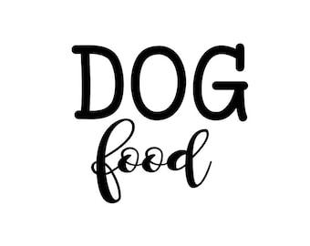 Dog Food Decal, Pet Food Decal, Dog Decal, Dog Food Sticker, Dog Food Label, Dog Decor, Dog Accessories, Dog Food Vinyl Decal, Organization