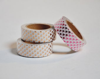 Triangles Pink or Gold Masking Tape