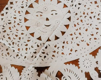 Mexican Papel Picado Round Tablecloth