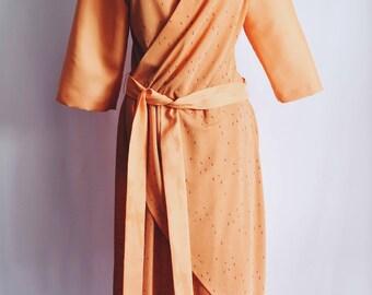 Cross orange dress