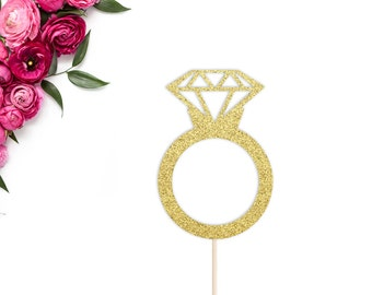 Diamond Ring Cake Topper | Bridal Shower Cake Topper | Bachelorette Party Cake Topper | Bride To Be | Miss to Mrs Decor | Engagement Party