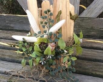 Coastal Chic Driftwood Candle Holders