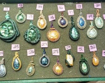 Various Assorted Handmade Resin Pendants 010-034